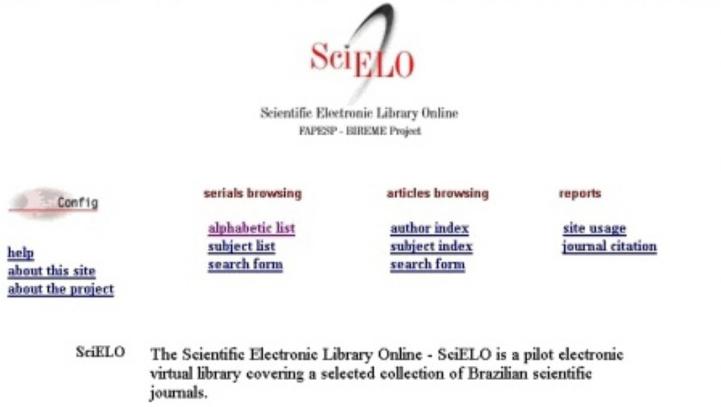 Formação da primeira coleção SciELO Brasil